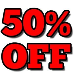 Take 50 % off items with 